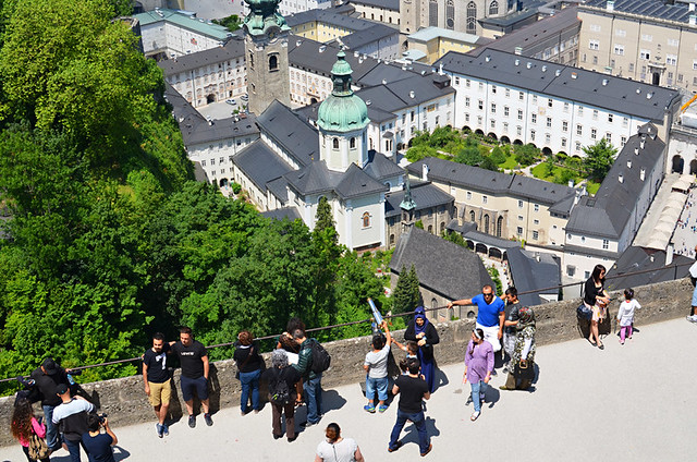 Terrace with views, Hohensaltzburg Fortress, Salzburg