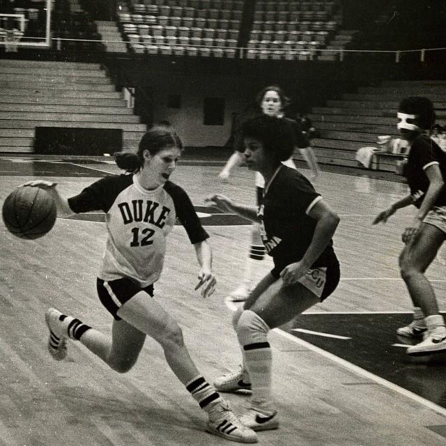 ThrowbackThursday to the Duke Women's Basketball team dur