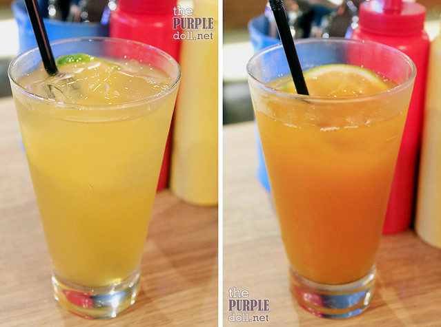 Lemonade (P60 Glass; P95 Bottomless) and Iced Tea (P60 Glass; P95 Bottomless)