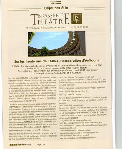 Adra - Sortir à Montpellier n°1560 article