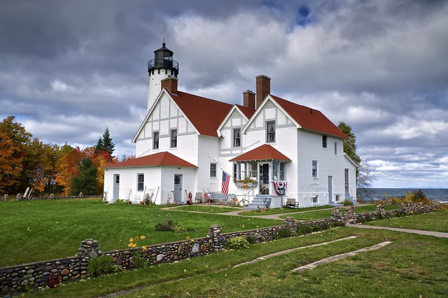point iroquois lighthouse, chippewa county, michigan