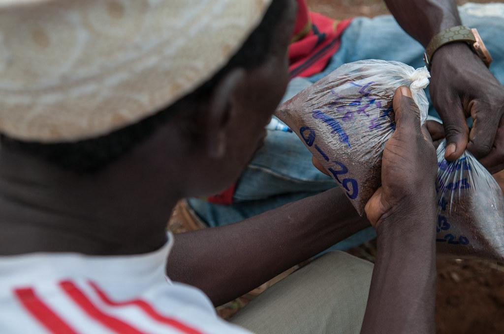 Soil sampling, Lushoto, Tanzania