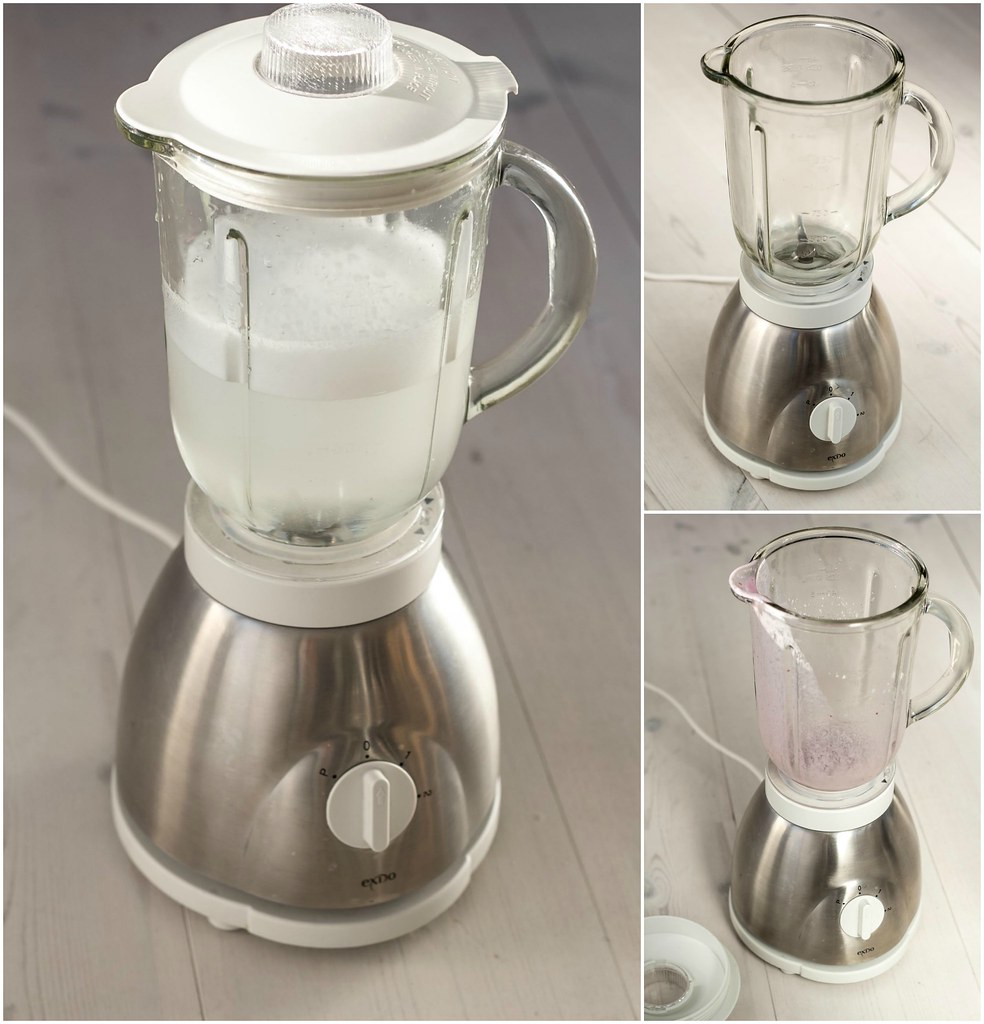 Use soap and water to clean blender