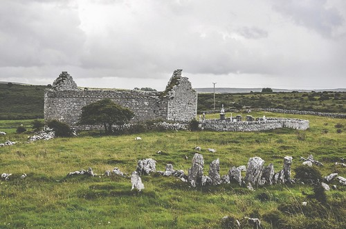 ireland church cemetery graveyard europa europe clare ruin irland burren countyclare 18105mm nikond90 carranchurch noughaval poulacarran ivvymillion