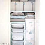 My organized linen cupboard