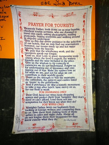 funny prayer for tourists