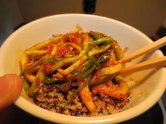Kimchee and quinoa