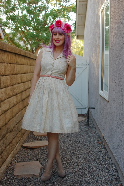 Modcloth Garden Sketch dress 005