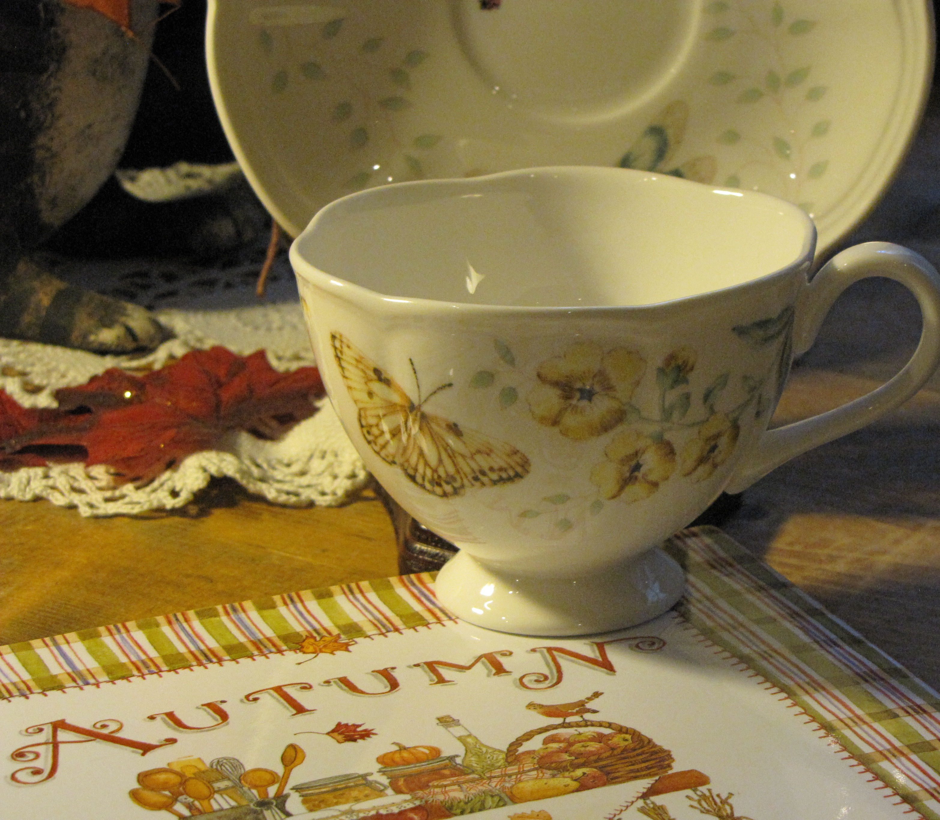 Butterfly Meadow Lenox Cup and Saucer