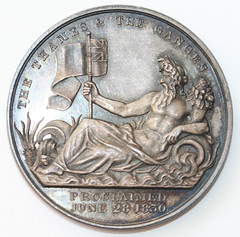1830 Accession of William III medal reverse