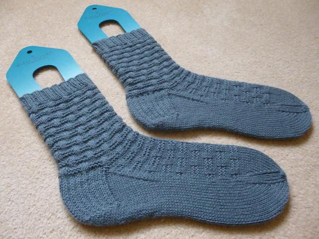 Coral's basketweave socks (1)
