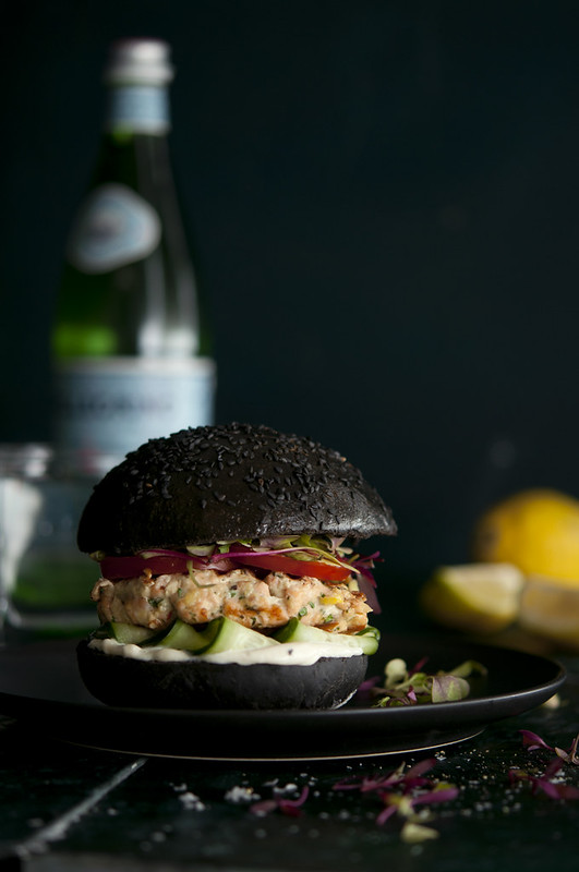 Black Salmon Burger
