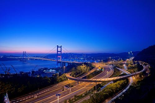 sunset night hongkong clear tsingma tsingyi