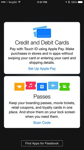 Apple Pay - Passbook
