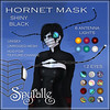 Spyralle Hornet Mask - ShinyBlack