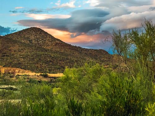arizona sky mountains green clouds canon landscape flora unitedstates tucson powershot hills monsoon thunderstorm sonorandesert s100 starrpass desertsouthwest