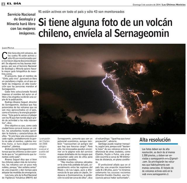 Convocan a creación colectiva de la mayor guía de volcanes de Chile