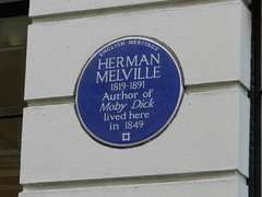 Photo of Herman Melville blue plaque
