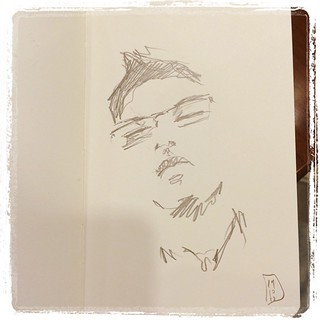 #japon #metro #portraits #urbansketch #pentel #kerry #moleskine