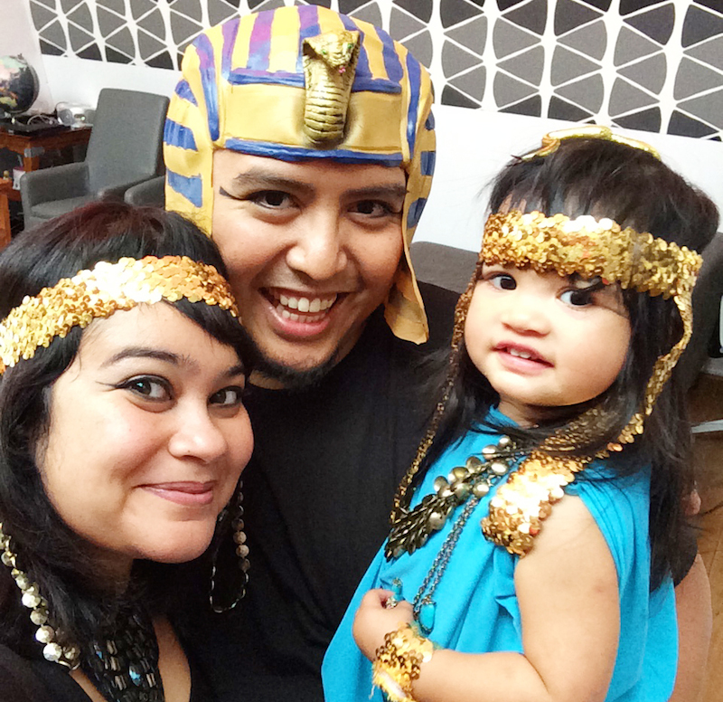 Cleopatra costume toddler and family