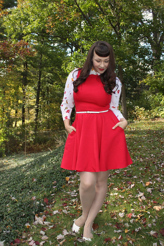 red modcloth dress