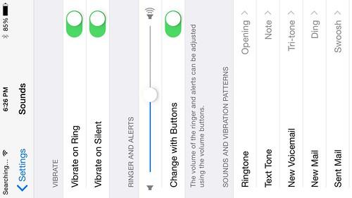 ใน Zoomed mode หน้าจอ Settings จะใช้ได้แต่แนวตั้งเท่านั้น