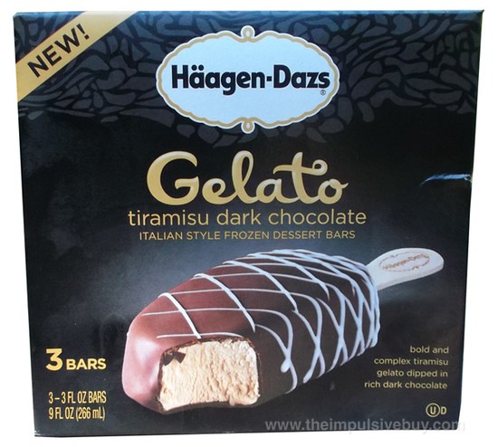 Ha?agen-Dazs Tiramisu Dark Chocolate Gelato Bars 1