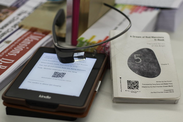 Google Glass & Kindle - Frankfurt Buchmesse 2014