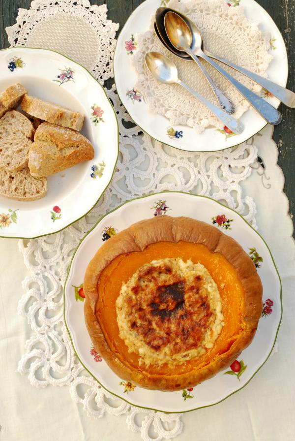 dip horneado de calabaza y queso