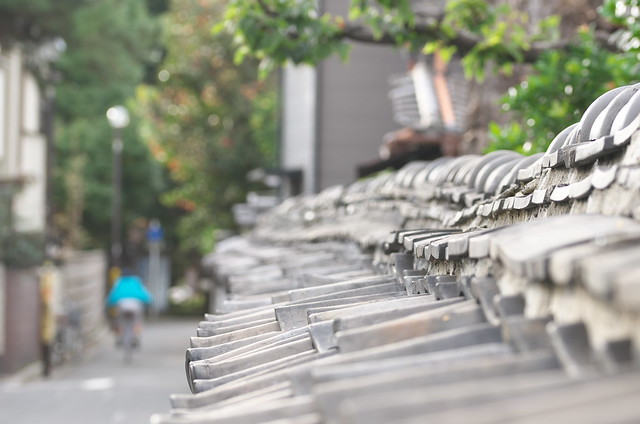 東京路地裏散歩 谷中の築地塀 2014年11月3日