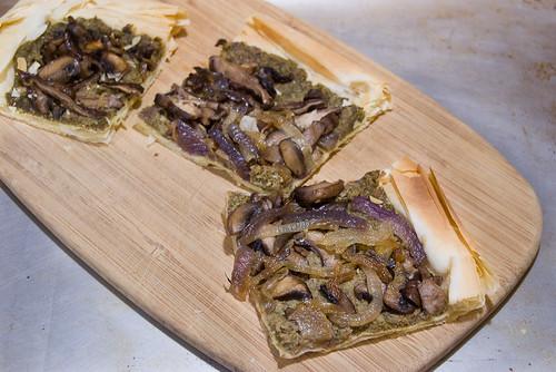 Mushroom Walnut Tart