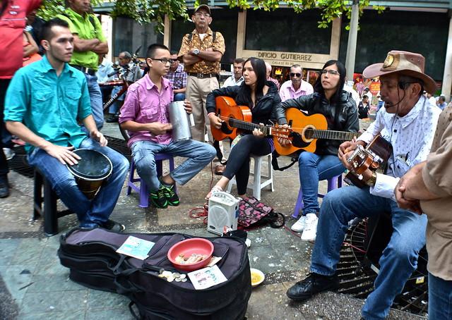street music in Medellin, Colombia