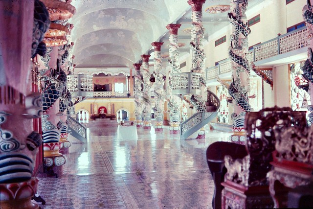 Tay Ninh 1965-66. Cao Dai Temple - Photo by John Hansen