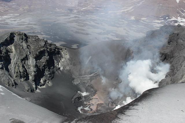 Cráter del volcán Copahue 3