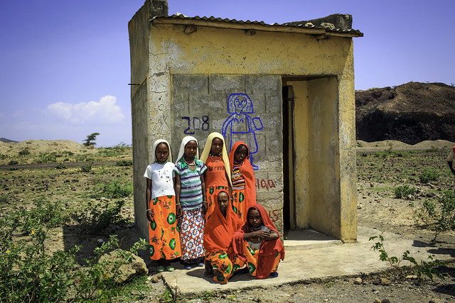 Girls' toilet at Beseka ABE Center in in Fantale Woreda of Oromia State