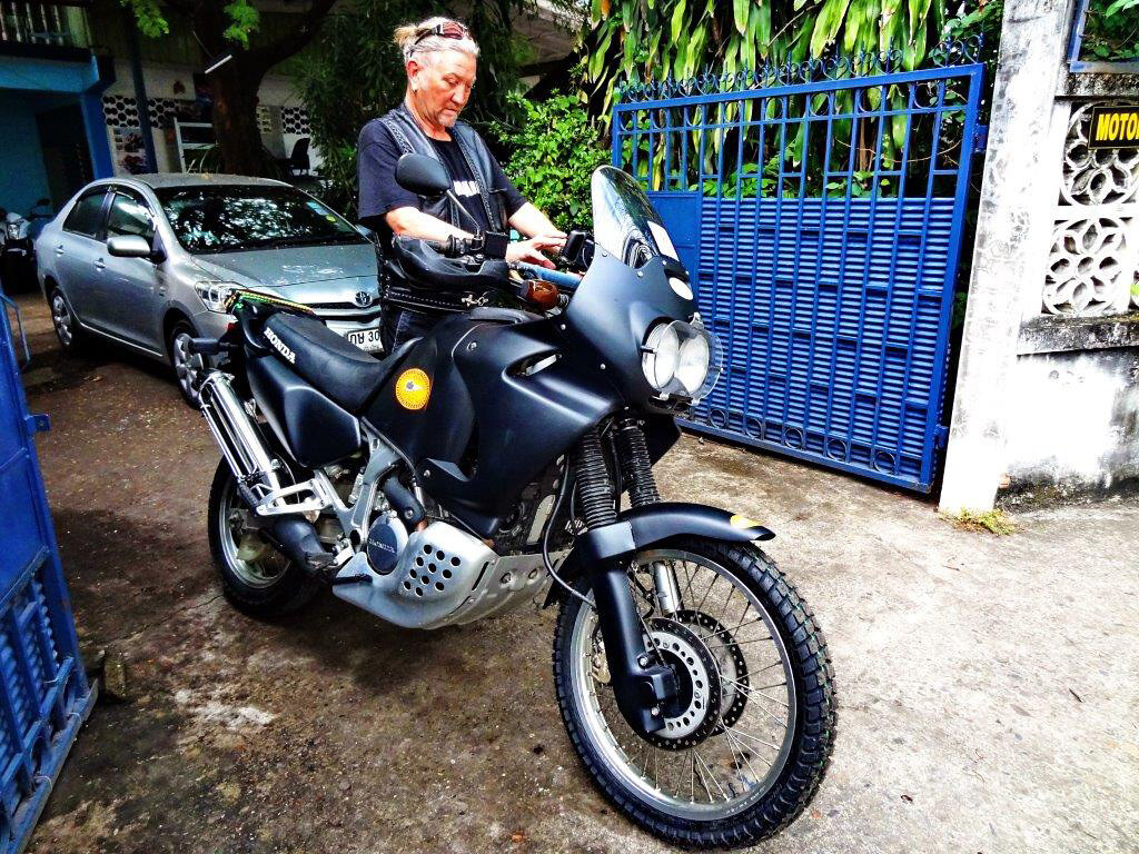 honda africa twin for sale with green book thai registration. Black Bedroom Furniture Sets. Home Design Ideas