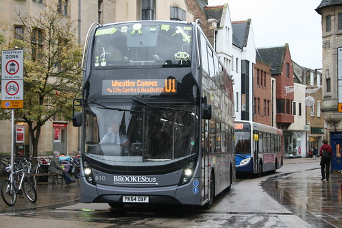 Go-Ahead Oxford Bus Company 610 on Route U1, Oxford Carfax