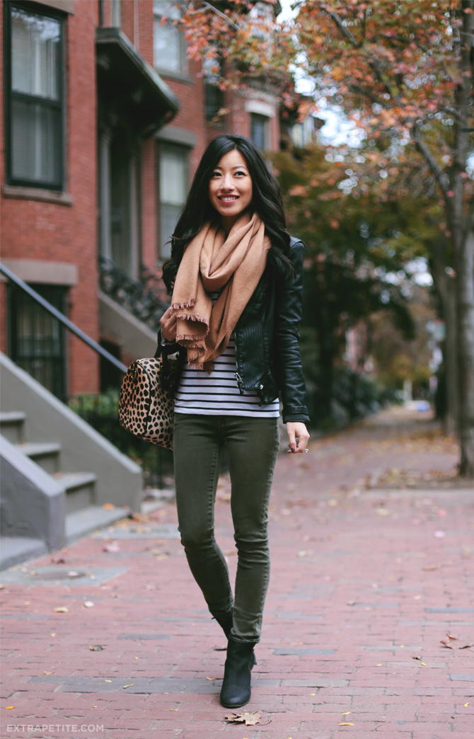 Leopard stripes scarf1