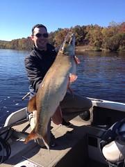 Kurt Greik with a Wisconsin River muskie