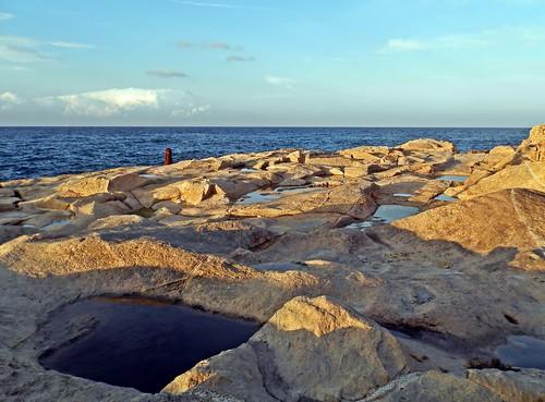 sunset sea rocks tramonto mare malta valletta scogli scogliera