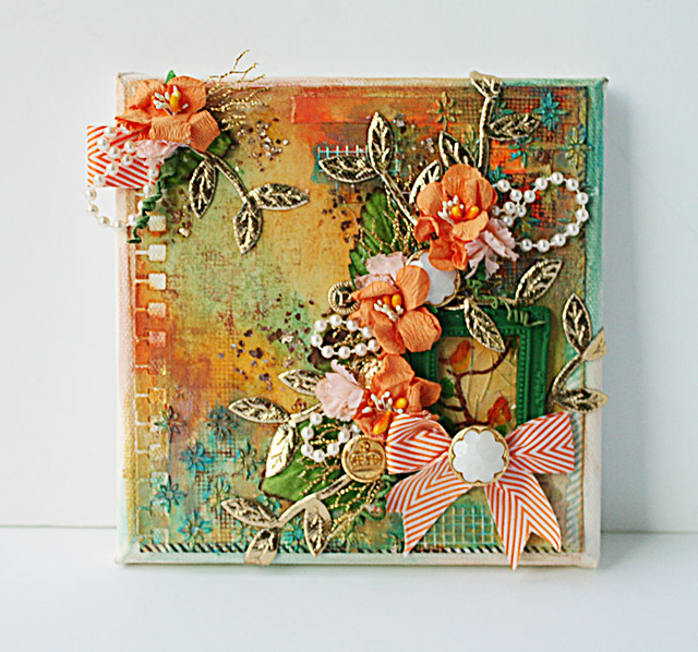Mixed media canvas for The Crafter's Workshop