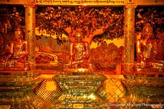Buddhas inside Shwedagon