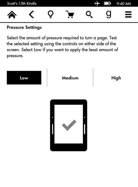 Pressure Settings