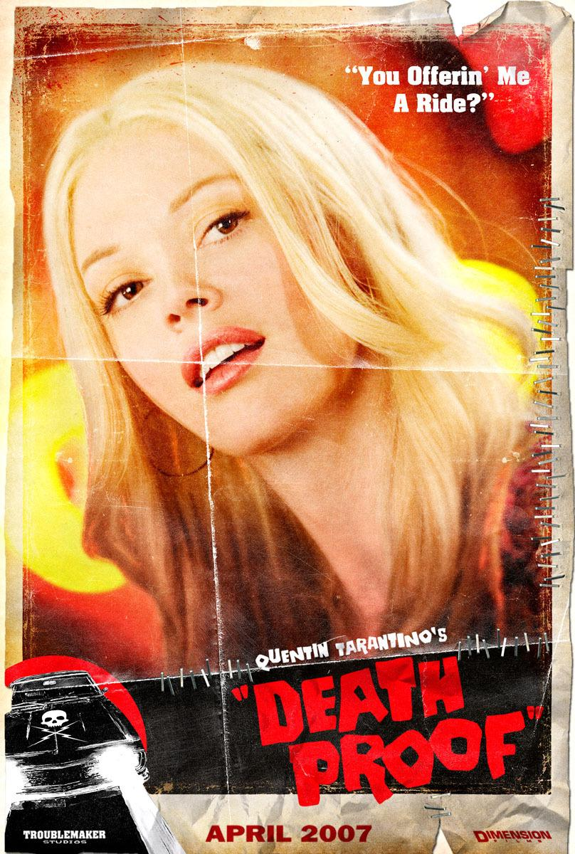 Death proof 2007 amazing movie posters for Grindhouse poster template