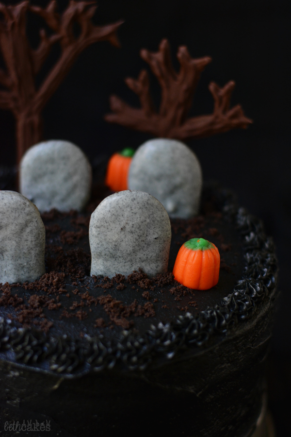 Black Magic Cemetery Cake bethcakes.com