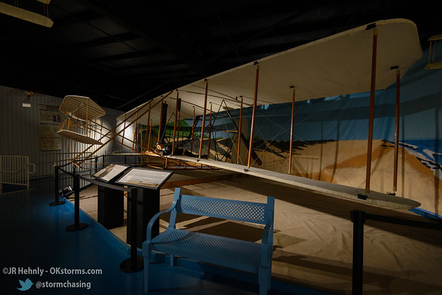 Sun, 10/26/2014 - 14:59 - A full-size replica of the Wright Flyer, the Wright Brother's airplane that first flew in 1903. - Stafford Air and Space Museum - October 26, 2014 2:59:05 PM - Weatherford, Oklahoma (35.5447,-98.6700)