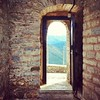 You've never walked thru a doorway with a view until you've walked thru this one. #VisitGreece. Tsoukas Monastery, Epirus. #TBEX