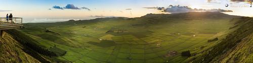 sunset panorama portugal horizontal meer europa europe sonnenuntergang caldera terceira vulcano azores açores atlantik vulkan caldeira 4x1 azoren oceansea querformat ilhaterceira serradocume caldeiradoguilhermemoniz einsturzkrater serradomoriao