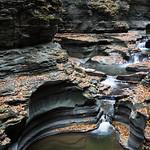 Worn away rocks of Watkin's Glen
