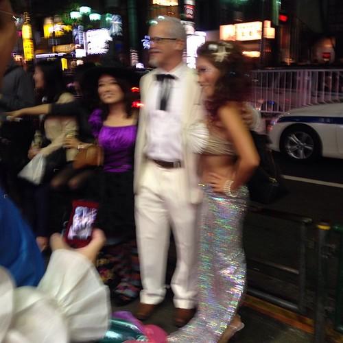 Halloween in Roppongi -- Colonel Sanders was very popular.